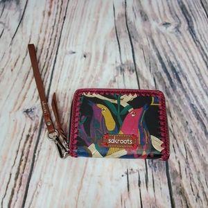 Sakroots Wristlet Wallet Bird Print
